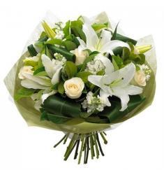 Μπουκέτο Τριαντάφυλλα Οριενταλ λευκά