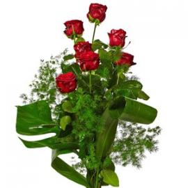 7 Red Roses Long Stems (IT)