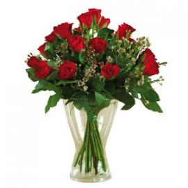 12 Red Roses Long Stems (IT)