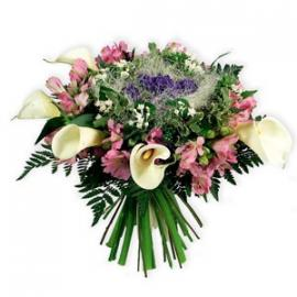Bouquet with Calla Lilies and Alstroemeria (IT)