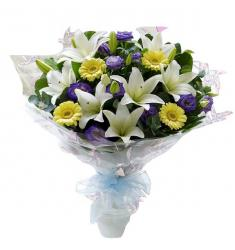 Bouquet in White-Purple-Yellow