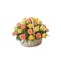 Beautiful Basket with Roses