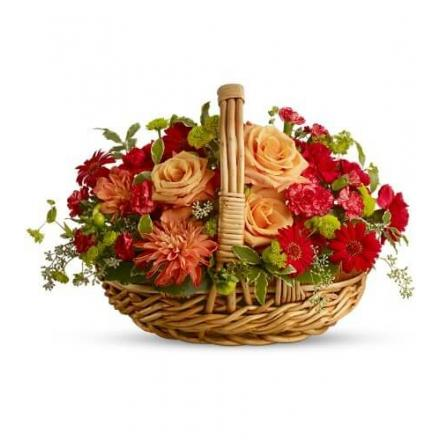 Basket in warm shades