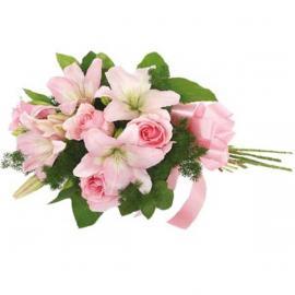 Μπουκέτο Τριαντάφυλλα - Λίλιουμ (μόνο για Ελλάδα)
