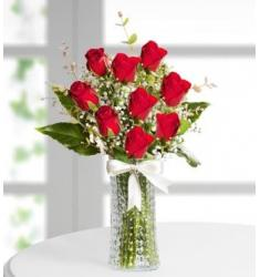 Red roses in a vase (TR)