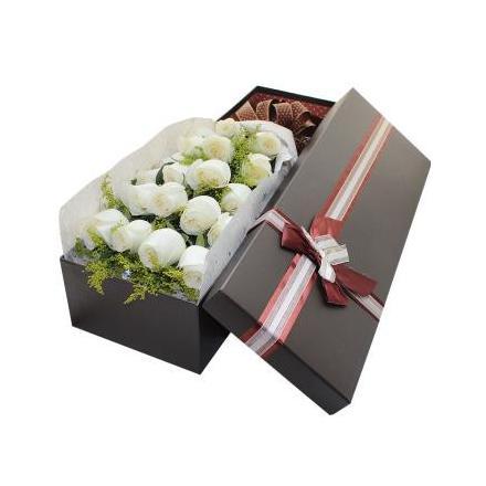 18 white roses (CHN)