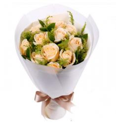 Dozen chanpagne roses (CHN)