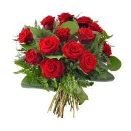 12 Red Roses in bouquet - FEEL IN YOU