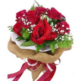 9 Red Roses (lucky) Bouquet