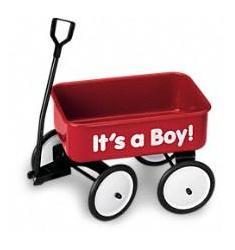 Μπουκέτο σε καροτσάκι για  αγόρι  (Αμερική)