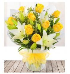 Yellow Rose & Lily  (UK)